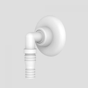 Priključni tulec SANIT za podometne sifone, beli