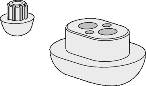 Blažilni set SANIT za WC desko 2100D in 2200D, sivi