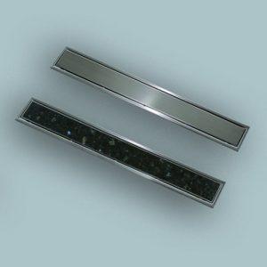 Rozeta za kanaleto SANIT z možnostjo položitve ploščic Rost Š:50 D:950 iz nerjavečega jekla