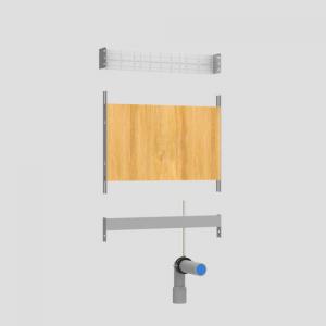 Modul SANIT za umivalnik in korita z nadometno baterijo