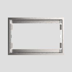 WC - rekonstrukcijski okvir SANIT 10 mm iz brušenega nerjavečega jekla