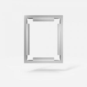 Okvir tipke za pisoar SANIT 10 mm iz poliranega nerjavečega jekla