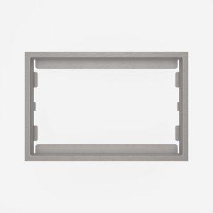 WC-Pokrivni okvir SANIT, brušen, za steklene aktivirne tipke