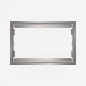 WC-Pokrivni okvir SANIT iz poliranega nerjavečega jekla za steklene aktivirne tipke