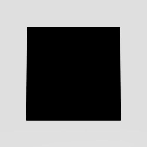 Steklo SANIT za tipko LIS, črno