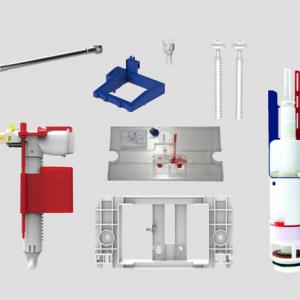Rezervni deli SANIT za podomentne inštalacijske elemente