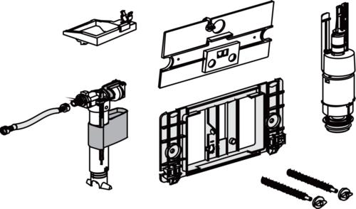 Rezervni set SANIT za podometne splakovalnike z veliko tipko