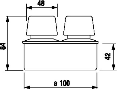 Cevni odzračevalnik SANIT za en predmet prezračevanja, fi100