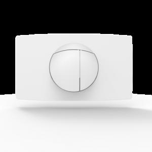 Aktivirna tipka SANIT L, za 2-količinsko splakovanje, alpsko bela