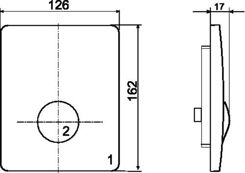 Aktivirna tipka za pisoar SANIT za ročno aktiviranje iz nerjavečega jekla