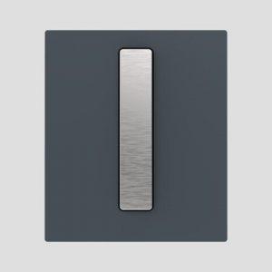 Tipka za pisoar INEO BRIGHT, steklena, antracit