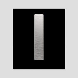 Tipka za pisoar INEO BRIGHT, steklena, črna