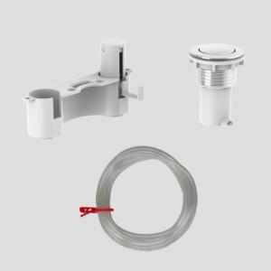 WC - aktivirna tipka SANIT 1K pneumatska, možnost montaže vstran od splakovalnika na pohištvo, krom