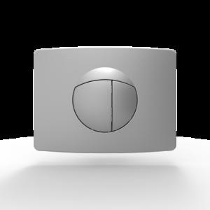 Aktivirna tipka SANIT za dvokoličinsko splakovanje (9/3 ali 6/3), za elemente z majhno odprtino, chrom-matt