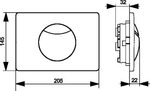 Aktivirna tipka SANIT S703 iz nerjavečega jekla z varovalnim vijakom