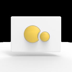 Aktivirna tipka SANIT, S 706, belo - rumena
