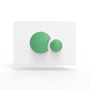 Aktivirna tipka SANIT, S 706, belo - zelena