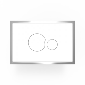 Aktivirna tipka SANIT, steklo/plastika, bela/bela