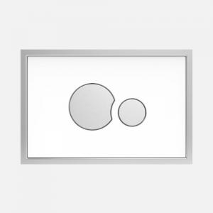 Aktivirna tipka SG 706, steklo/plastika, bela/ mat krom