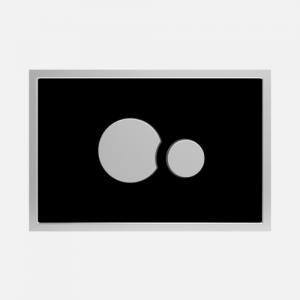 Aktivirna tipka SANIT, SG 706, črno steklo - sijaj crom