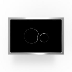 Aktivirna tipka SANIT, SG 706, črno steklo