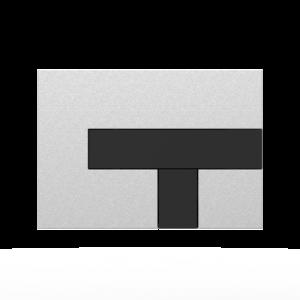 Aktivirna tipka SANIT LOS, mat crom - črna