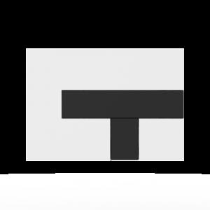 Aktivirna tipka SANIT LOS, bela - črna
