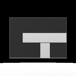 Aktivirna tipka SANIT LOS, črna - mat crom