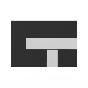 Aktivirna tipka SANIT LOS, črna - sijaj crom