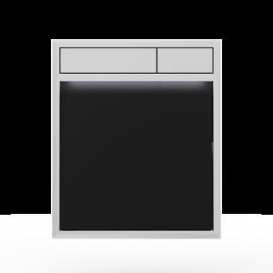 Aktivirna tipka SANIT LIS z LED lučjo, črno steklo - sijaj crom