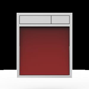 Aktivirna tipka SANIT LIS, brez LED luči, rdeče steklo - sijaj crom