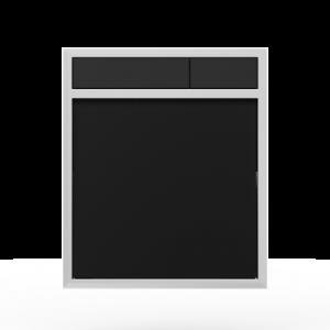Aktivirna tipka SANIT LIS, brez LED luči, črno steklo - črna