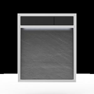 Aktivirna tipka SANIT LIS z LED lučjo, hrapavo sila - črna