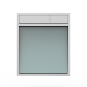 Aktivirna tipka SANIT LIS, brez LED luči, srebrno sivo steklo - sijaj crom