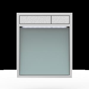 Aktivirna tipka SANIT LIS z LED lučjo, srebrno sivo steklo - mat crom