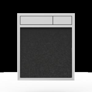Aktivirna tipka SANIT LIS, brez LED luči, granit črna - sijaj crom