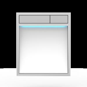 Aktivirna tipka SANIT LIS z LED lučjo, belo steklo - mat crom