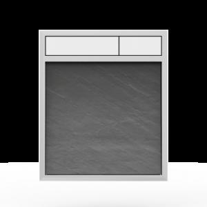 Aktivirna tipka SANIT LIS, brez LED luči, hrapavo siva - bela