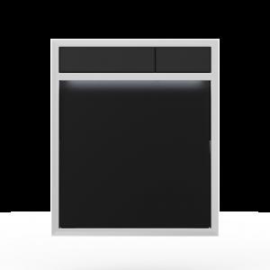 Aktivirna tipka SANIT LIS z LED lučjo, črno steklo - črna