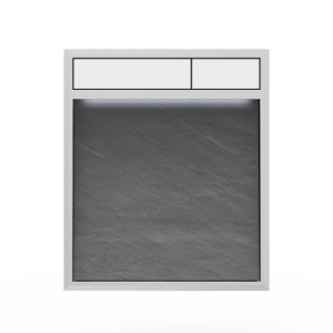 Aktivirna tipka SANIT LIS z LED lučjo, hrapavo siva - bela