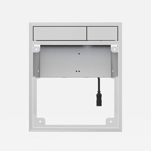 Aktivirna tipka SANIT LIS z LED lučjo, individualna zasnova - sijajni krom