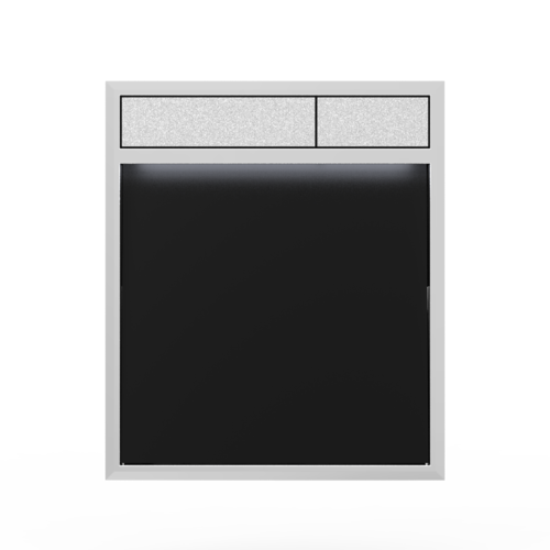 Aktivirna tipka SANIT LIS z LED lučjo, črno steklo - mat crom