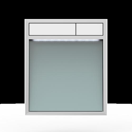 Aktivirna tipka SANIT LIS z LED lučjo, srebrno sivo steklo - bela