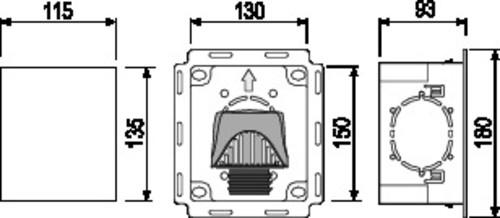 Škatla SANIT, ravna, z odzračevalnikom fi: 30 - 50