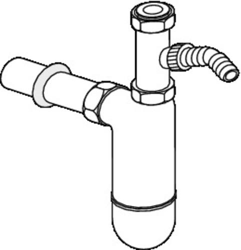Bučkasti sifon SANIT s povezovalnim priključkom G1 1/2 fi:40