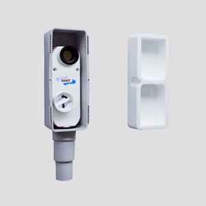Podometni sifon SANIT z možnostjo nastavitve višine fi40/50