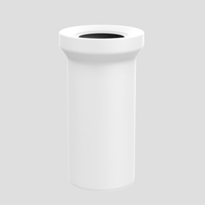 WC–Priključna cev SANIT D: 250 fi 110, alpsko bela