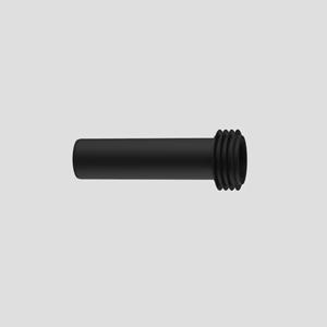 WC-priključna cev SANIT s tesnilom, D:180 mm, črna