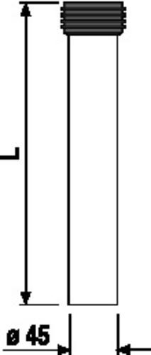 WC - priključna cev SANIT s tesnilom, D: 300 mm, črna