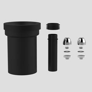 PE WC priključna garnitura SANIT, fi 110, 180mm, krom